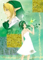 Link and Saria by KaikaKaze