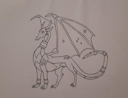 Cynder outlines  by SicaChii
