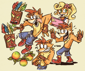 Crash Doodles by Z-T00N
