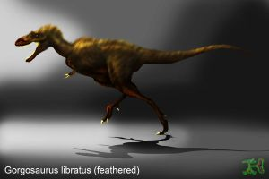 Gorgosaurus feathered attempt by IEHawesomesauce