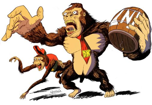 Donkey Diddy Kong color by wekufeh