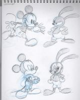 Mickey and Oswald by DarylT