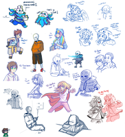 Doodles, request and others by Kaweii
