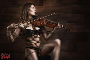 Samantha Bentley Violin - Fine Art Of Bondage by Model-Space