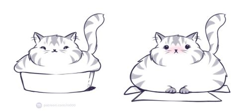 The problem of a fat cat by murr000