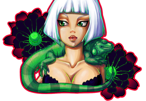 + Experiment: Iguana Girl + by mazokups