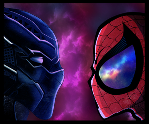 Panther Vs Spidey by shunter071