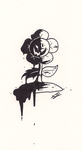 Inktober: Ink Flowey by MeetJohnDoe