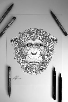 Child Heroes Doodle: Monkey by childheroes