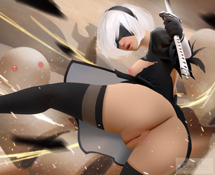 NSFW 2B Naked by GawkInn