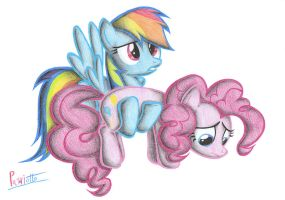 Rainbow Dash and Pinkie Pie by Patoriotto