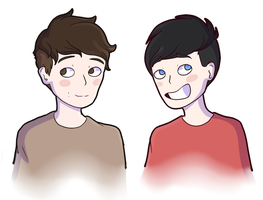 Dan and Phil by Lainty-Too
