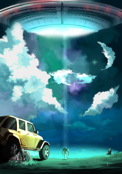 Close Encounters of the Third Kind Speed painting by Rbz-art
