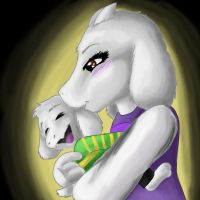 Toriel and Asriel by Vee-Ray