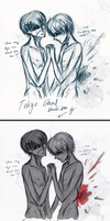 Two SideS [Kaneki Ken] by LacriChan