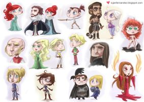 ASoIaF doodles by lujus