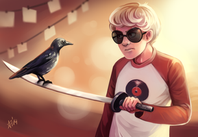 Dave and a crow by severumChameleon