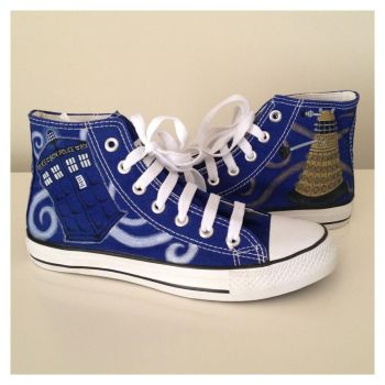 Doctor Who Sneakers by breathless-ness