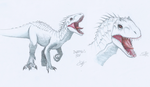 Indominus Rex (Recolored with ColorPencils) by CrazyNat2012
