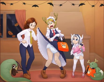 Halloween preparation by The-Padded-Room
