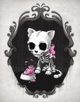 Bone Kitty by aleksandracupcake