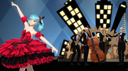 The Skeleton Orchestra and Lilia [Etoile Miku DL] by Jomomonogm