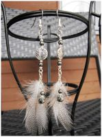 Silver drum plate - earrings by SaQe
