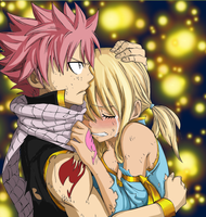 Natsu and Lucy by LoveMuf1n