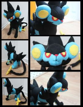 Luxray Plush by NsomniacArtist