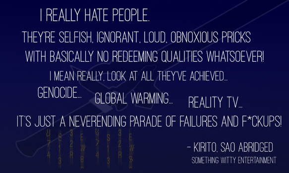 Kirito On People by TheArtFrog