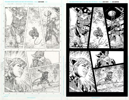 injustice 17 page 6 ink practice SideBySide by EricKemphfer