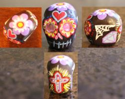 Sugar Skull 14 SOLD by angelacapel
