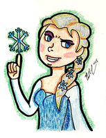 Elsa And The One Snowflake by chelano
