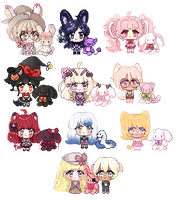 Smol Friend commission batch by SparksTea