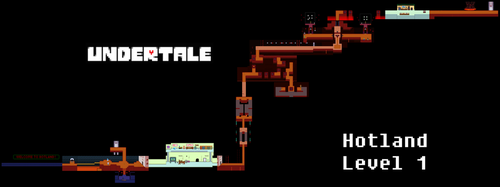 Undertale Complete Map - Hotland Level 1 by Papikari