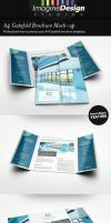 A4 Gatefold Brochure Mockup by idesignstudio