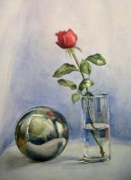 Rose and sphere by koo178