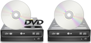 DVD and CD icons by DrunkenSandwich