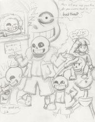 sans the skeleton by marinasea17