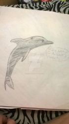 IMMA DOLPHIN by JacetheShark