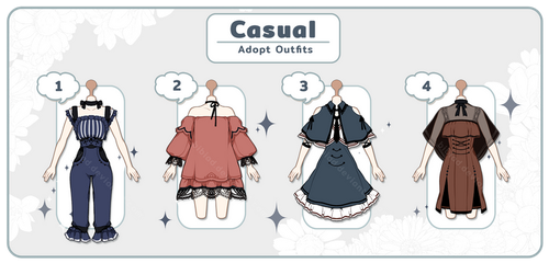 [Adopt Auction] Casual #1 - CLOSE - by QuinnyIlada