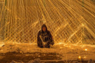 More Stuff With Steel Wool And Snow by WillLeavey
