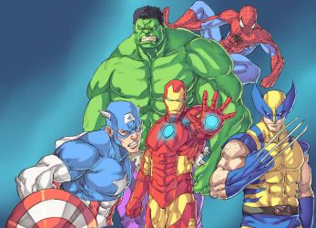 Marvel Super Heroes by Mick-cortes