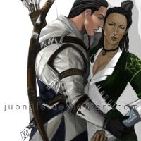 Commission: Conner x Aveline by Juongie