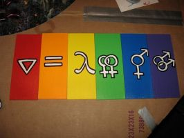 LGBT Pride Symbol Plaques by wastedXpandas