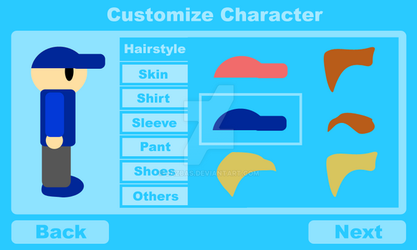 Character selection screen by jazbas