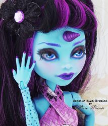 Dark Unicorn Girl - Monster High Repaint by PixiePaints
