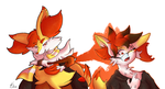 [Braixen TFTG] Sharing the Fire by LackeDragon