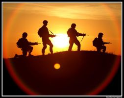 Soldiers Sunrise by rlgphoto