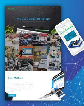 Multi-section single page website design by brevitysoftware